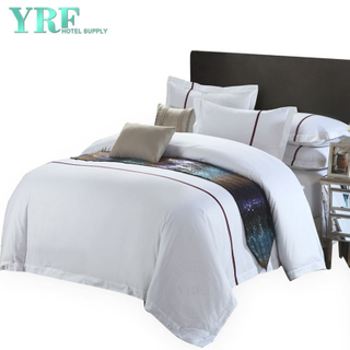Goedkope Soft Koning Patchwork Resort Satin Soft Hotel Cotton Bedding